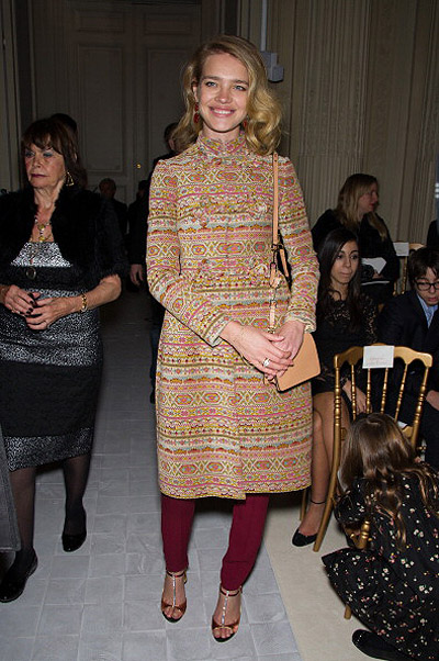 Valentino: Front Row- Paris Fashion Week Haute-Couture Spring/Summer 2013