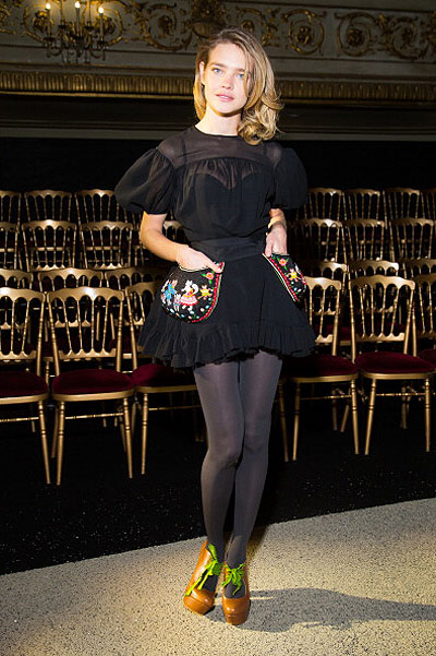 Ulyana Sergeenko: Front Row - Paris Fashion Week Haute-Couture Spring/Summer 2013