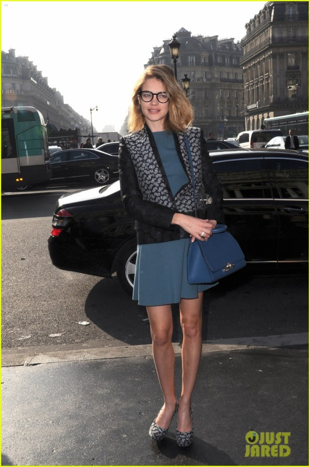 """Arrivals at the parade """"Stella McCartney' during Fashion Week in Paris"""