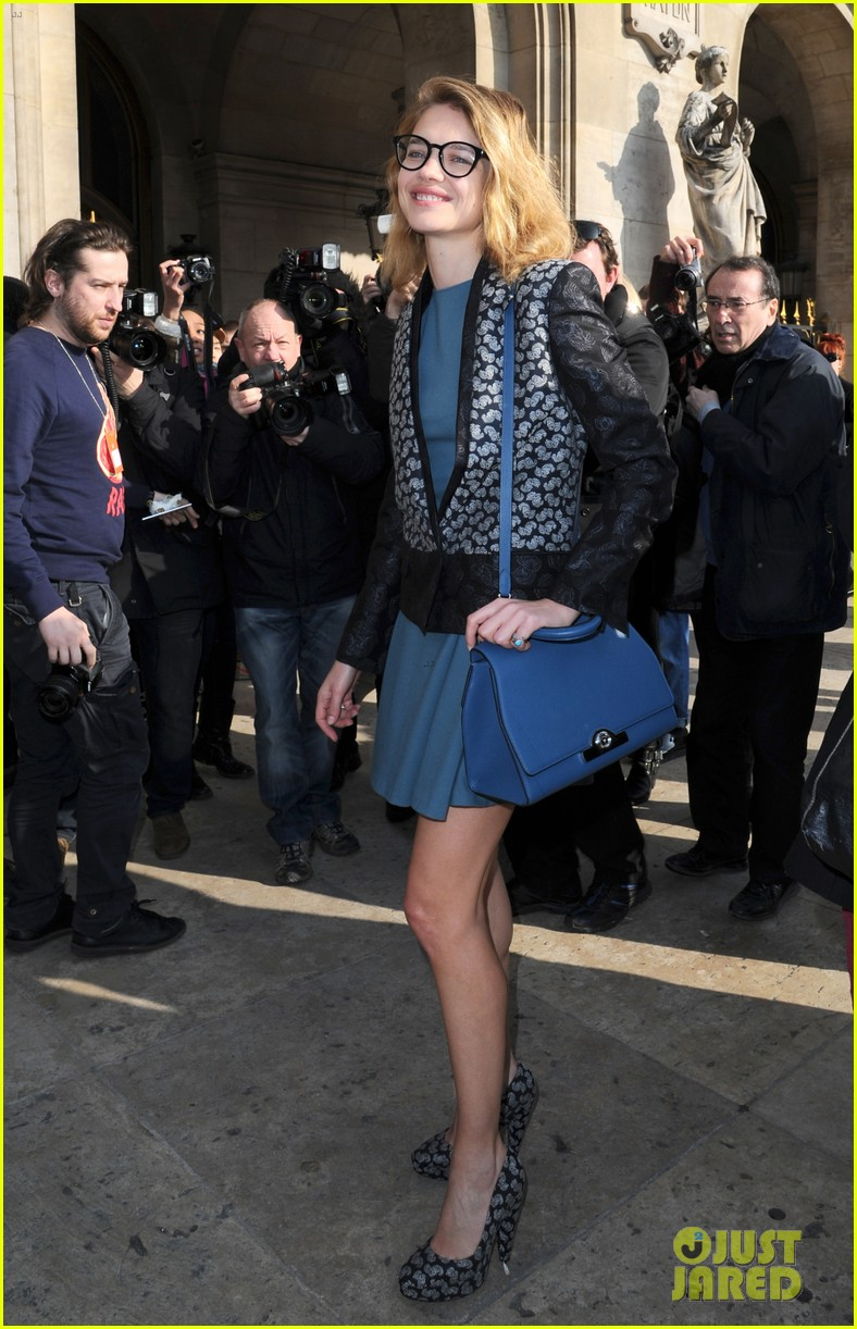 "Arrivals at the parade ""Stella McCartney' during Fashion Week in Paris"