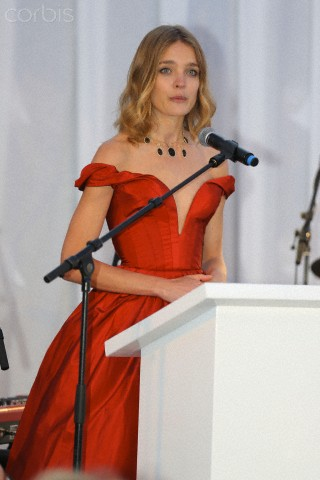 Natalia Vodianova hosts a star studded charity dinner at the Plage Royale in Cannes