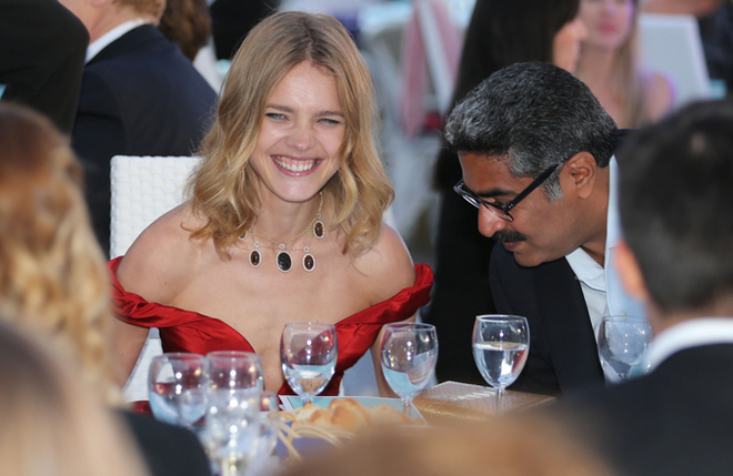 Natalia Vodianova hosts a star studded charity dinner at the Plage Royale in Cannes.