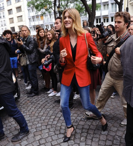 Celebrities attend Valentino's runway show in Paris